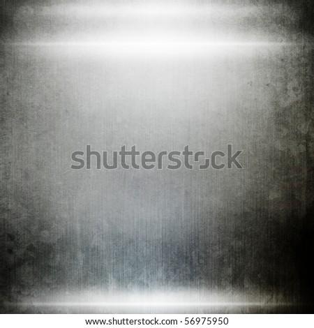 grunge iron plate - stock photo