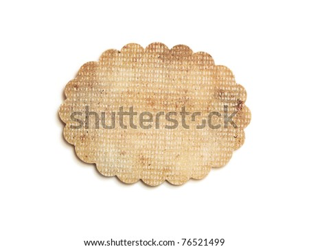 grunge label or sales tag - stock photo