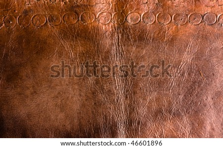 Grunge leather texture - stock photo