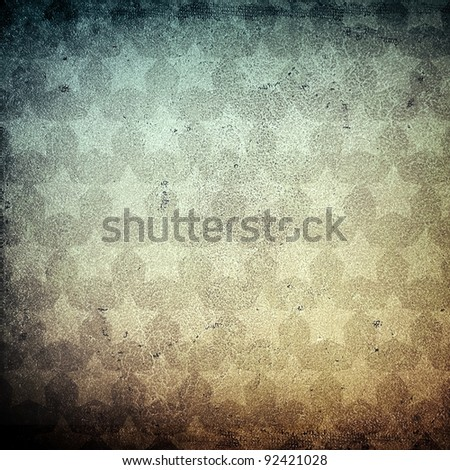 grunge leather with star pattern - stock photo