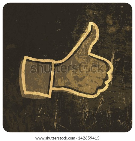 Grunge like symbol. Raster version, vector file available in portfolio. - stock photo