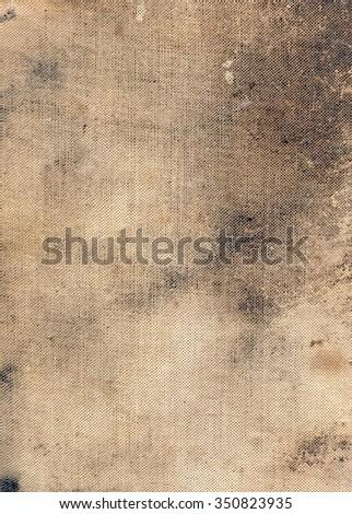 Grunge linen book cover - stock photo