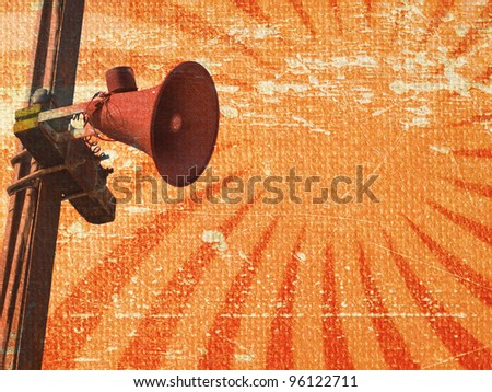 Grunge loudspeaker background - stock photo