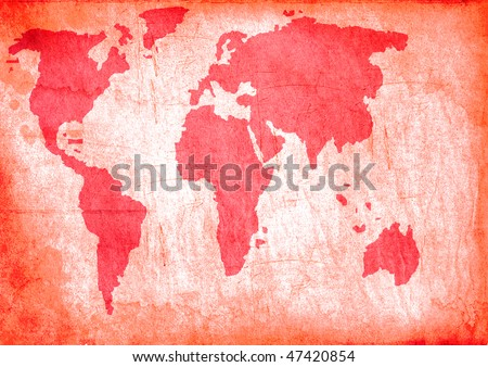 Grunge map - stock photo