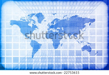 Grunge Map on a Information Technology Abstract