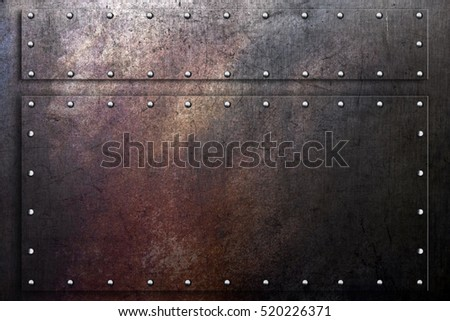 Grunge metal background, worn scratched steel texture