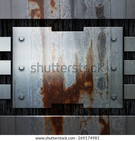 grunge metal for design - stock photo