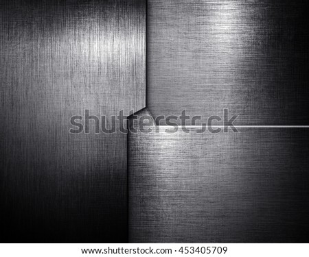 grunge metal pattern background - stock photo