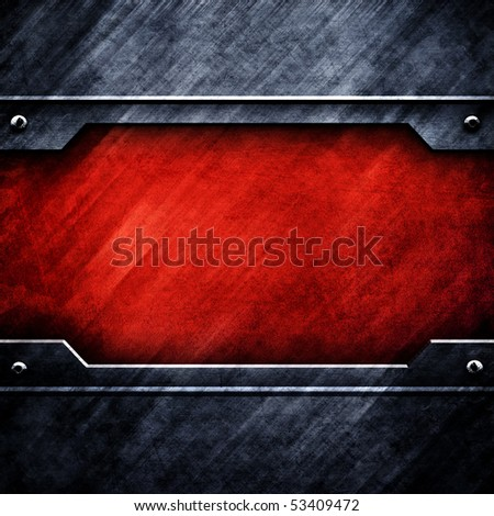 grunge metal plate - stock photo