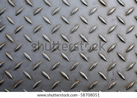 Grunge metal plate with geometrical pattern.