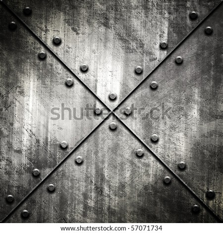 grunge metal tank - stock photo