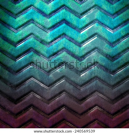 Grunge metal template. Chevron pattern - stock photo