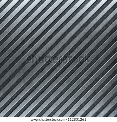 grunge metal with stripes - stock photo