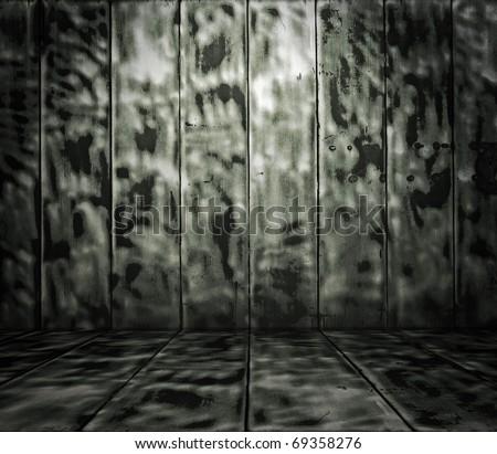 grunge metallic interior - stock photo