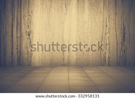 grunge metallic interior, urban background, retro film filtered, instagram style - stock photo