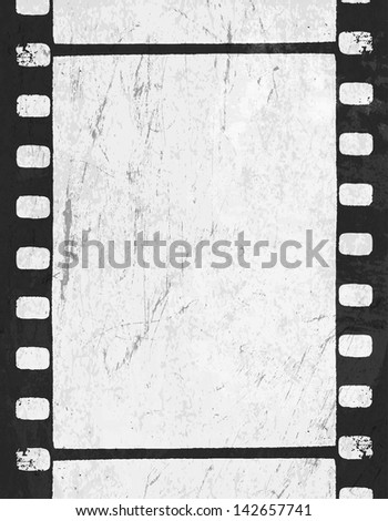 Grunge monochrome filmstrip with space for text. Raster version, vector file available in portfolio. - stock photo