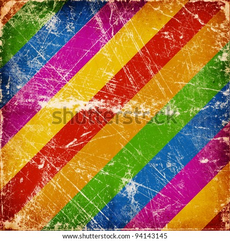 Grunge multicolor stripes background