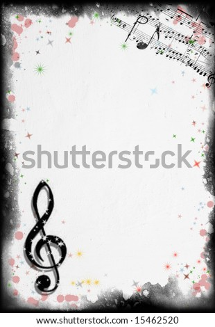 Grunge Music Background. Background series - see more in my portfolio. - stock photo