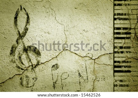 Grunge Music Background. Background Series. See more in my portfolio. - stock photo