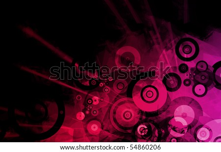 Grunge Music Background with Colorful Effects Art - stock photo