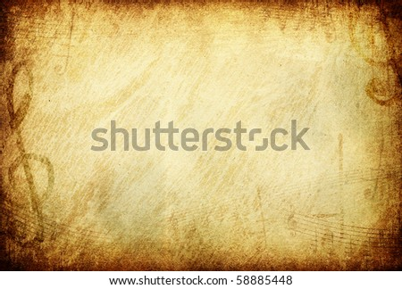 Grunge musical background. With space for text of image. - stock photo