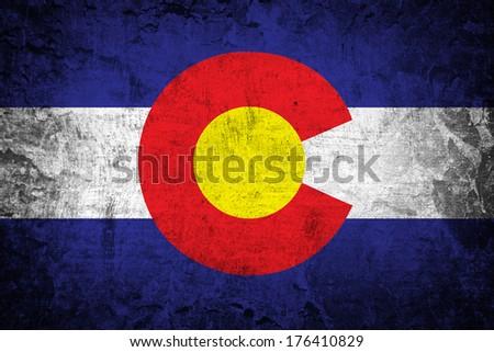 grunge of Colorado flag  - stock photo