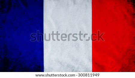 Grunge of France flag - stock photo