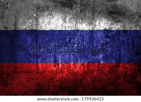 Grunge of Russia Flag  - stock photo