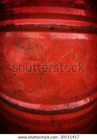 grunge oil drum background - stock photo