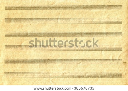 Grunge old blank music sheet paper texture - stock photo