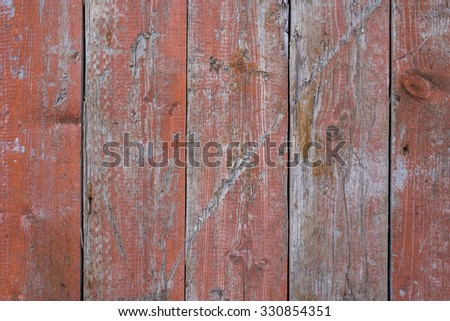 Grunge old painted wooden panels. Horizontal seamless. - stock photo