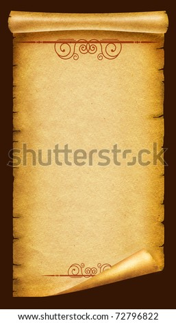 grunge old paper texture background with vignettes - stock photo