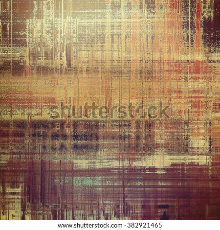 Grunge old-school texture, background for design. With different color patterns: yellow (beige); brown; red (orange); purple (violet); gray - stock photo