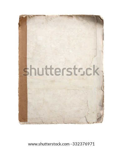 grunge old sheet of paper. parchment. - stock photo