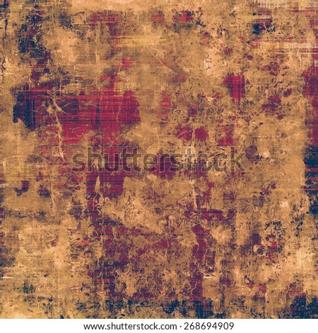 Grunge old texture as abstract background. With different color patterns: brown; yellow (beige); purple (violet) - stock photo