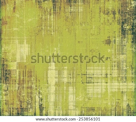 Grunge old texture as abstract background. With different color patterns: yellow (beige); brown; gray; green - stock photo