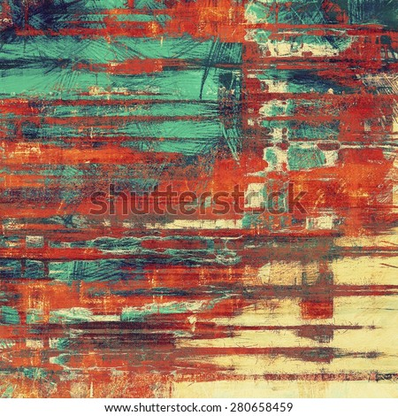 Grunge old texture as abstract background. With different color patterns: yellow (beige); brown; blue; red (orange) - stock photo