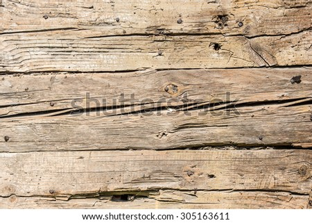 Grunge old weathered wood surface - stock photo