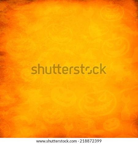 Grunge orange halloween background or texture - stock photo