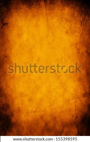 Grunge orange paper background or texture - stock photo