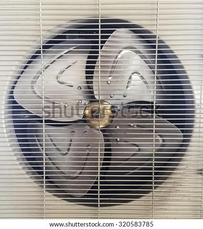 Grunge Outdoor Unit Heat Air Pump - stock photo