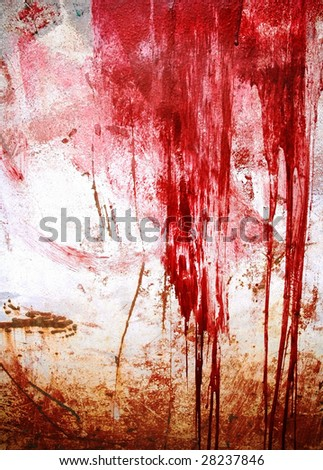 grunge paint on metal background - stock photo