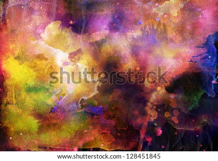 Grunge painting background, colorful illustration