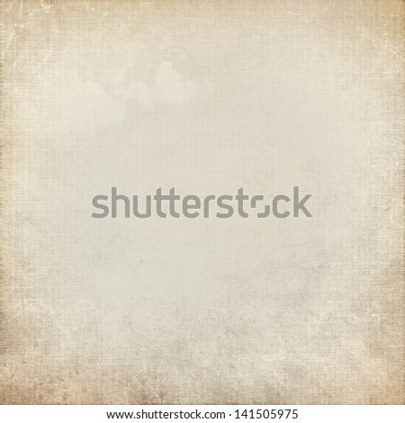 grunge paper background old canvas texture - stock photo