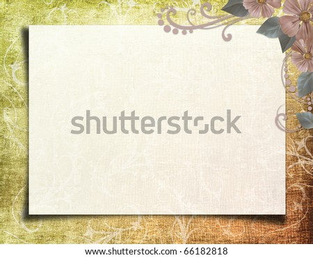 Grunge paper design for information - stock photo