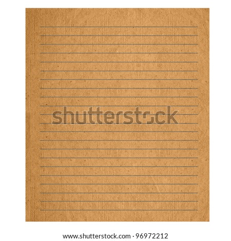 grunge paper page with line. textured isolated on the white backgrounds. - stock photo
