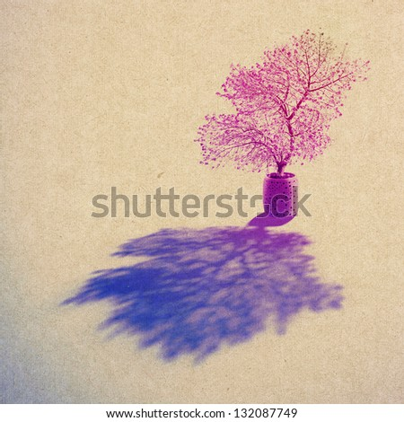 grunge  paper texture, vintage background - stock photo