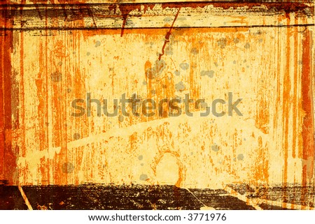 Grunge paper texture with wood grain and spots and paint stains
