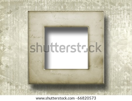 Grunge papers design in scrap booking style with frame - stock photo