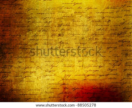 Grunge papers design in scrapbooking style with blank for text - stock photo